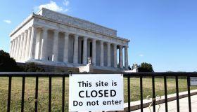 US Government shutdown - Lincoln Memorial