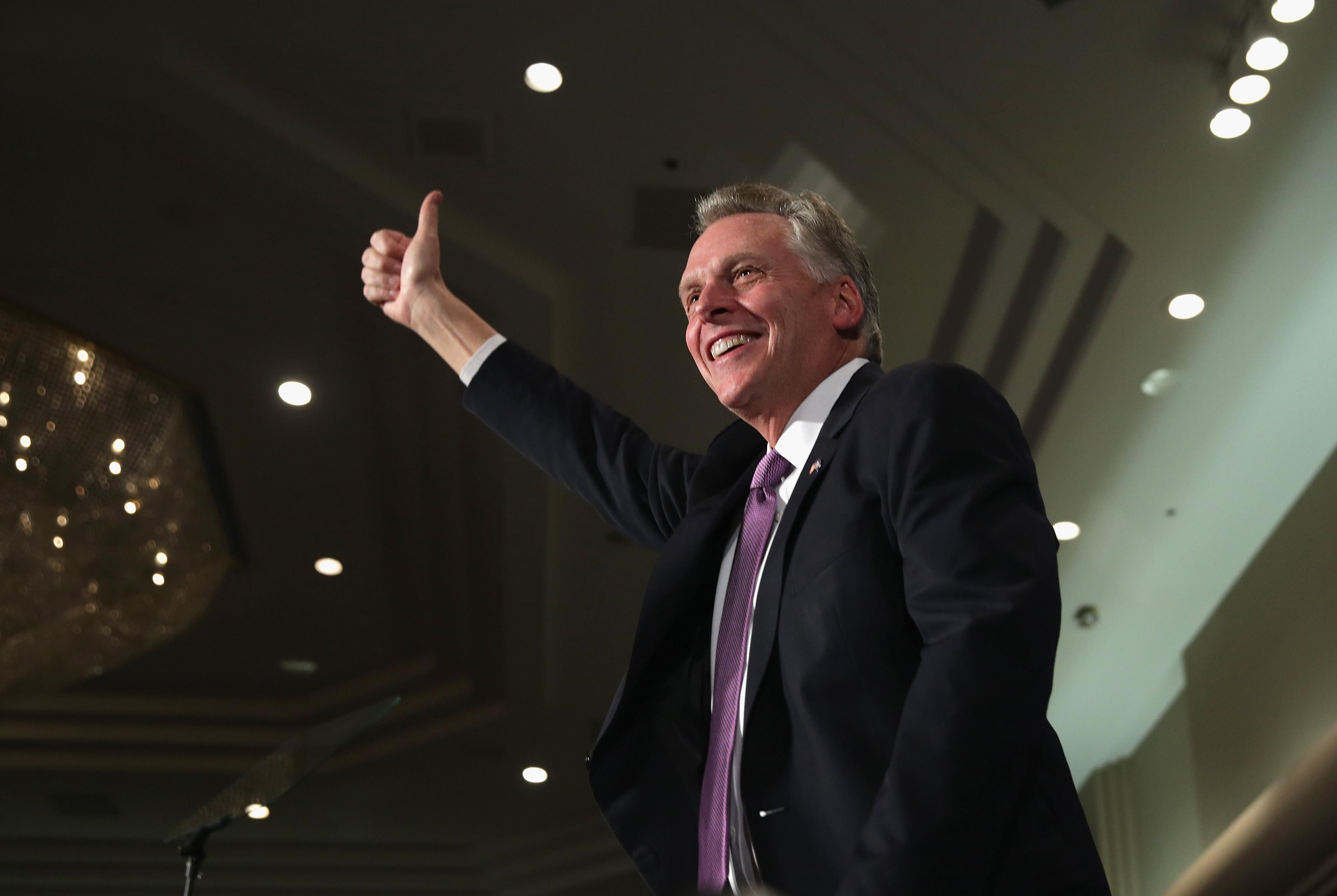 Virginia Gubernatorial Candidate Terry McAuliffe Hosts Election Night Gathering