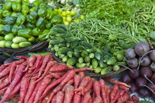 Vegetables on Sale, India