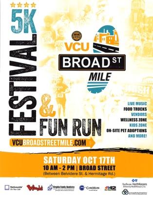 VCU Broad St Mile - 5k Festival & Fun Run