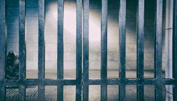 Full Frame Shot Of Prison Bars