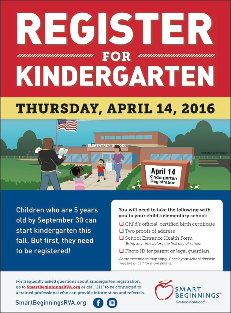 KINDERGARTEN REGISTRATION IN VIRGINIA