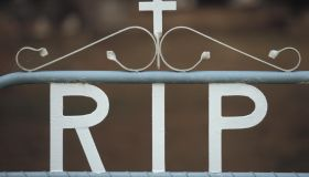 RIP Notice on Gate, Cowra Cemetery New South Wales Australia