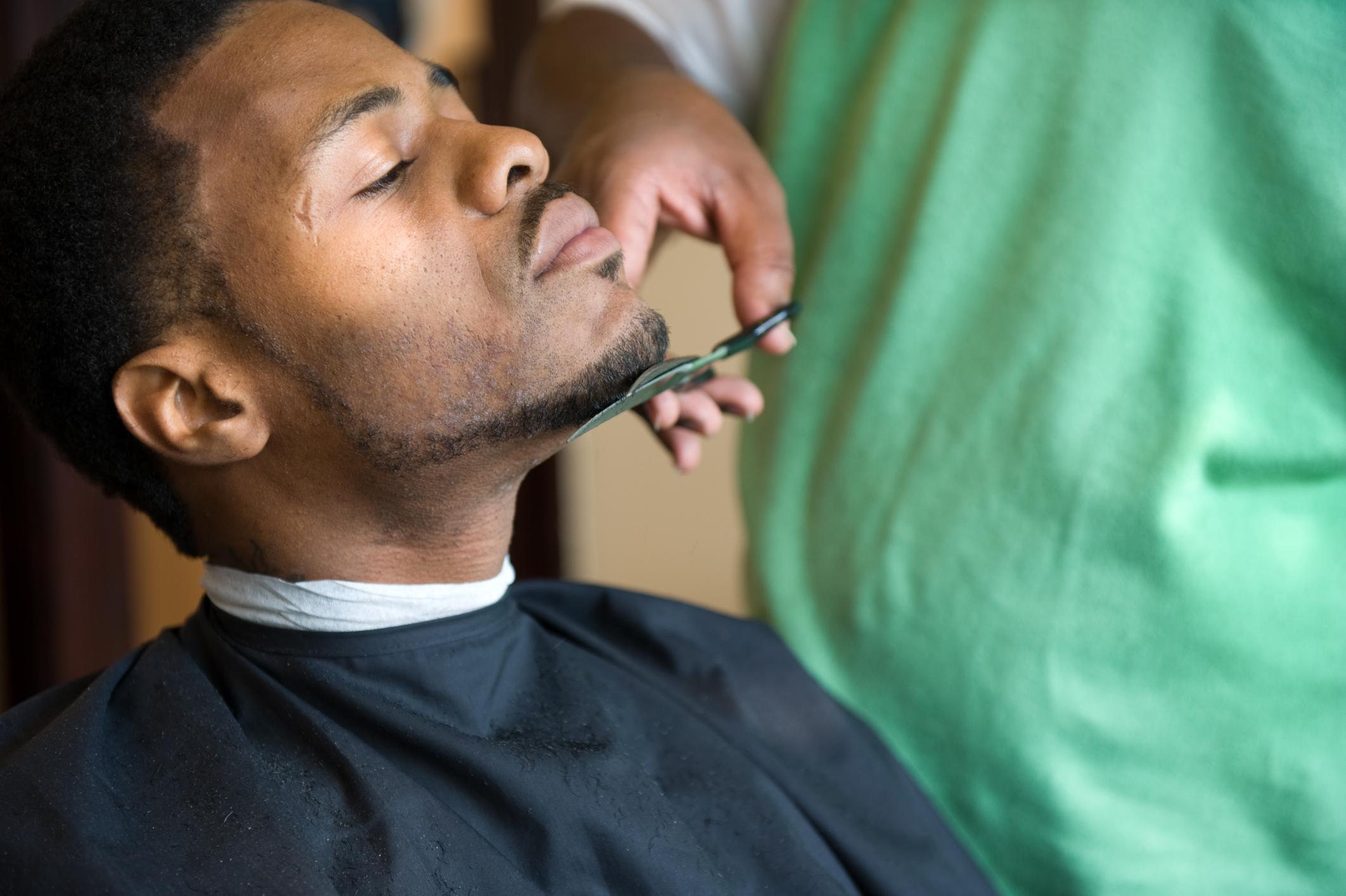 African American Barber Shop Trim