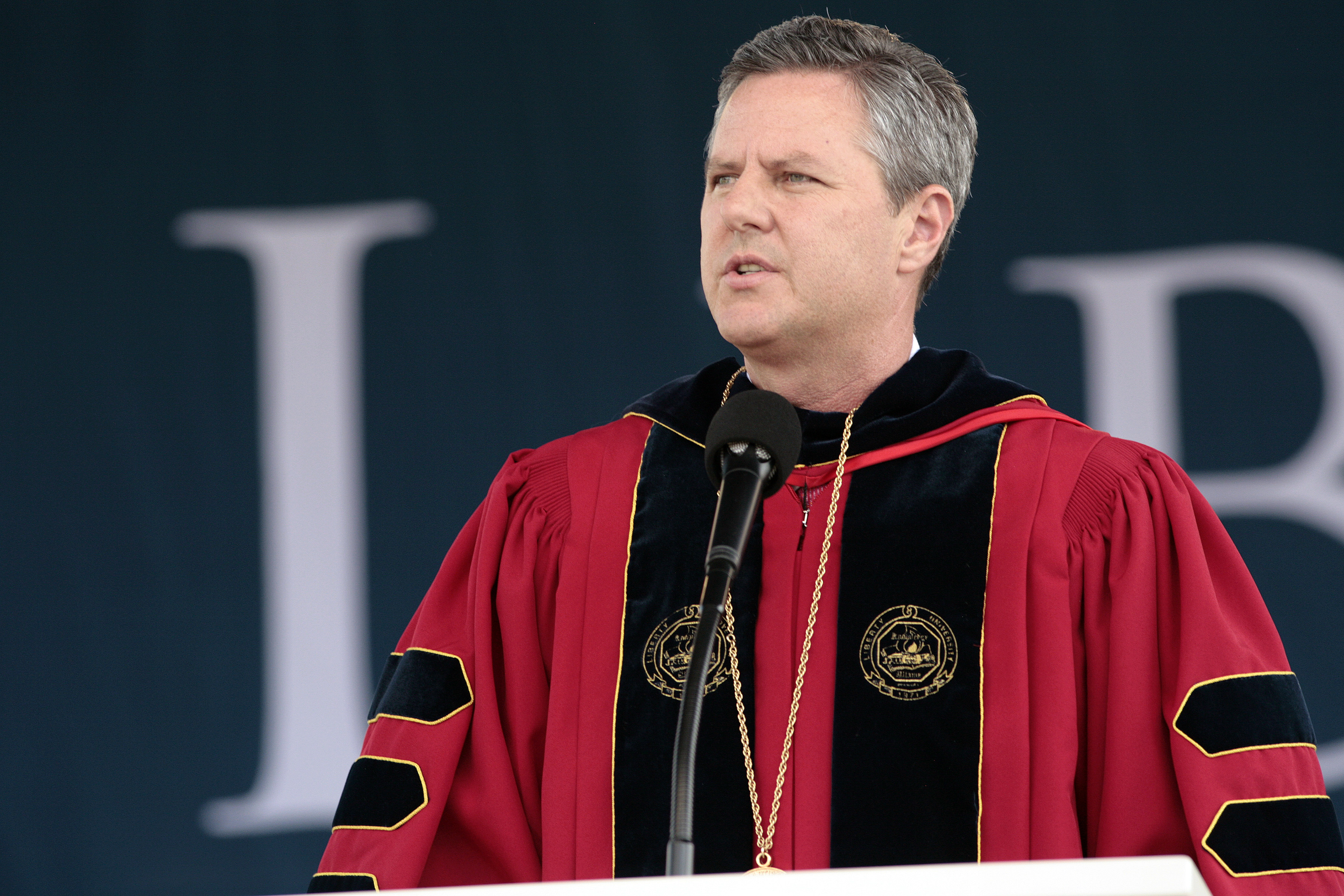 Mitt Romney Delivers Commencement Address At Liberty University