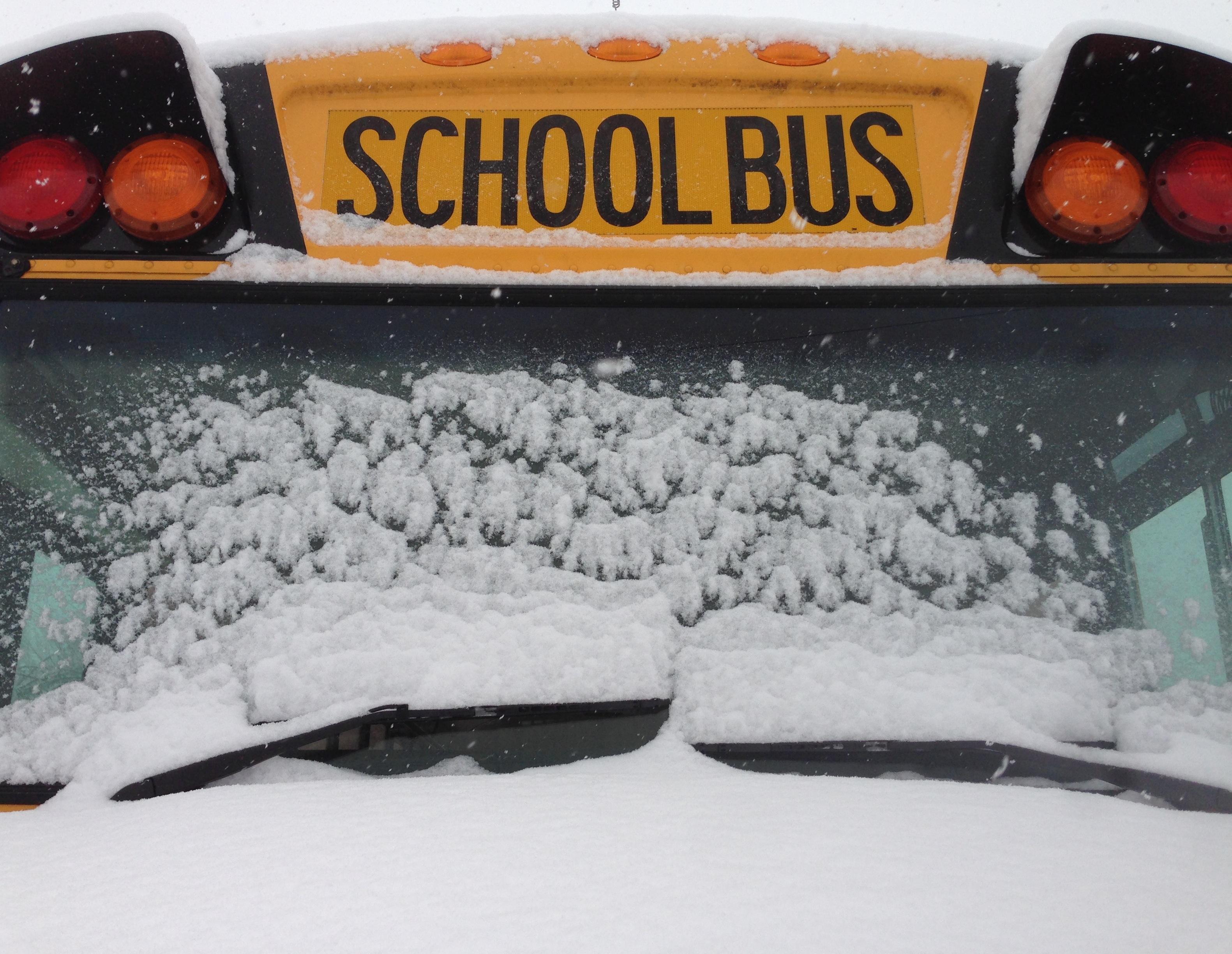 Snow blankets the Washington region.