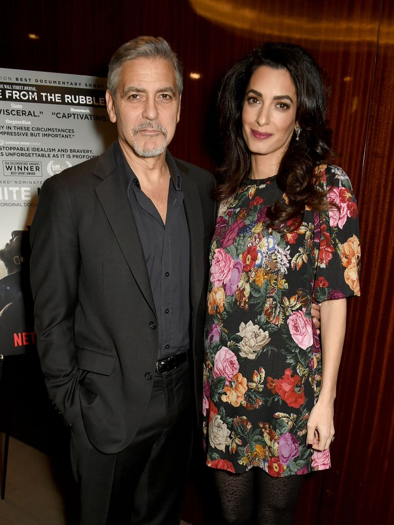 Special Screening Of Netflix's The White Helmets Hosted By The Clooney Foundation For Justice With George And Amal Clooney