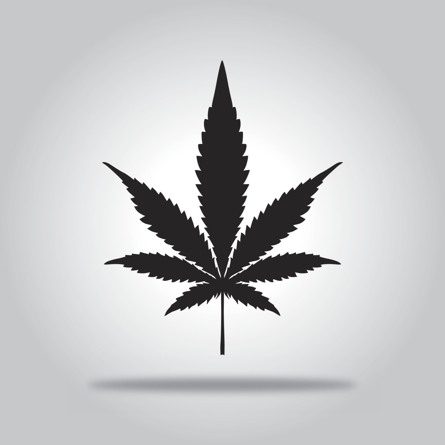 Black Marijuana Leaf icon