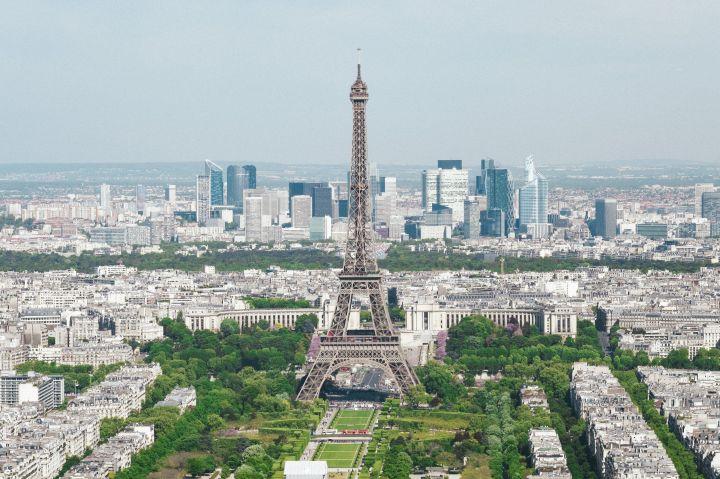 View Of Eiffel Tower Against Paris Cityscape