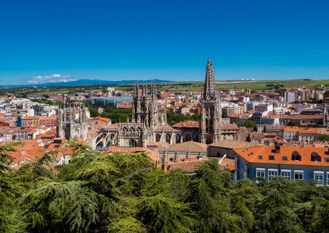 Panorama of Burgos, Spain.