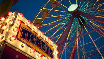 Amusement park rides at the Maryland State Fair, Timonium MD