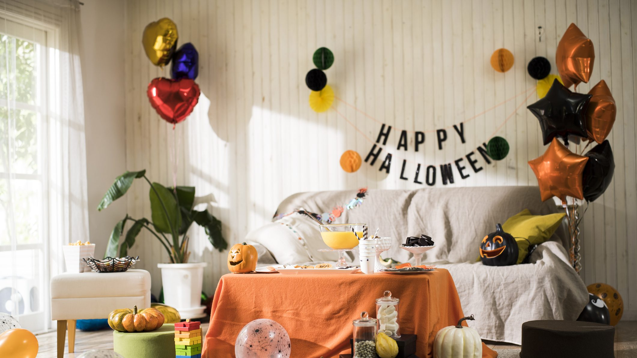 The Halloween party is ready.