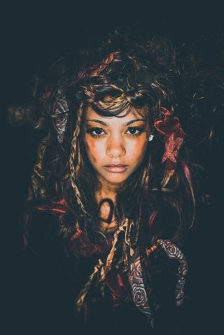 Voodoo Queen Woman Hydra Portrait