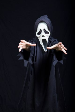 Child in spooky Halloween costume
