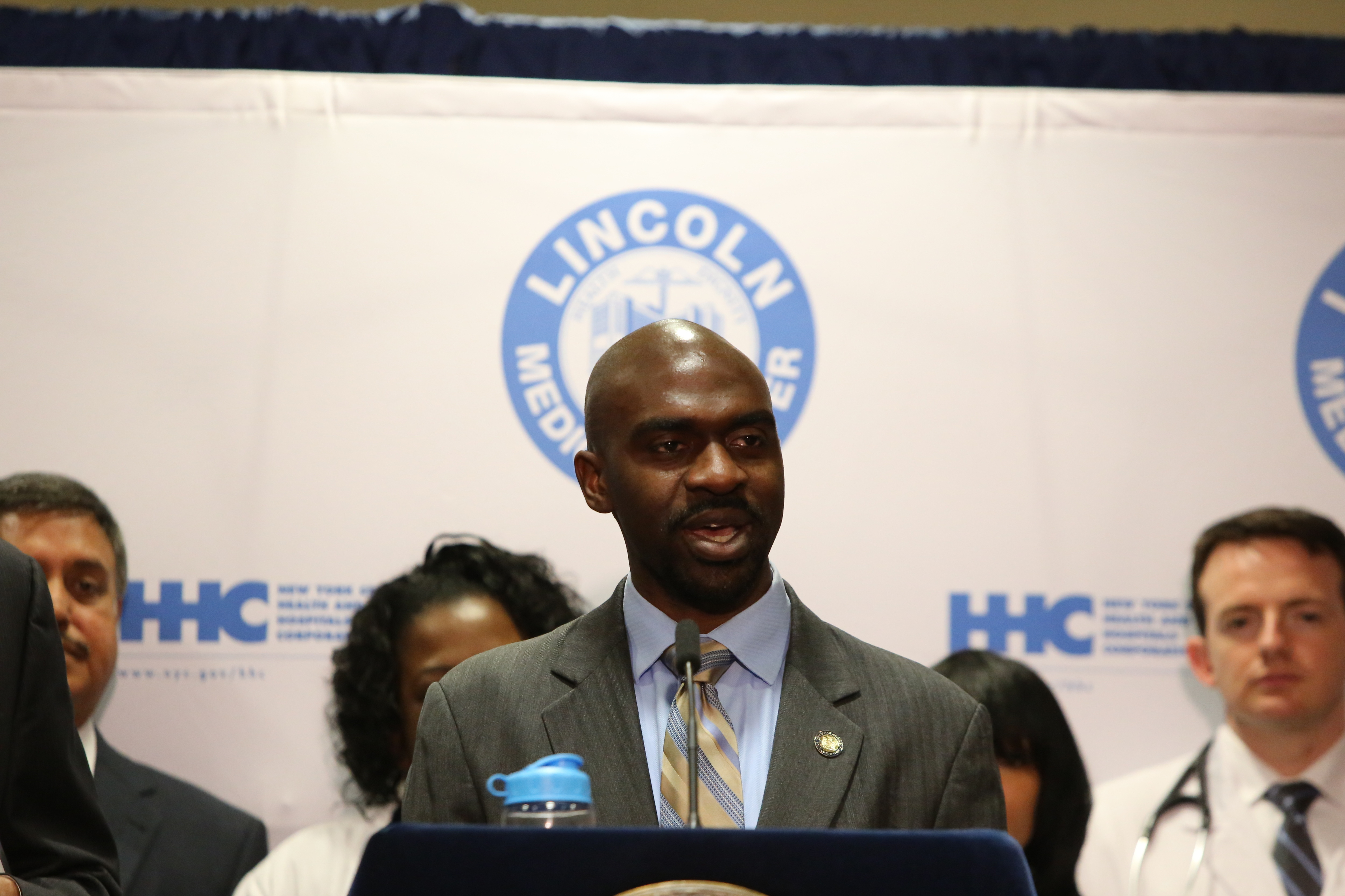NY state assembly member Michael Blake of the 79th district...