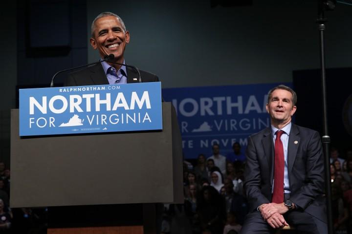 Barack Obama Campaigns With Democratic Gubernatorial Candidate Ralph Northam