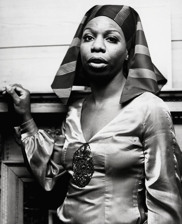 Singer Nina Simone Dressed in 'Pharaoh' Style