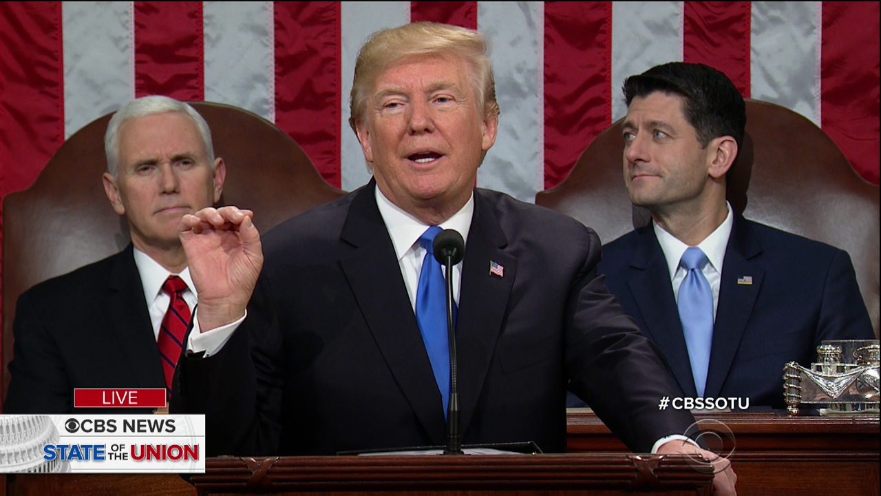 The State of the Union as seen on CBS.