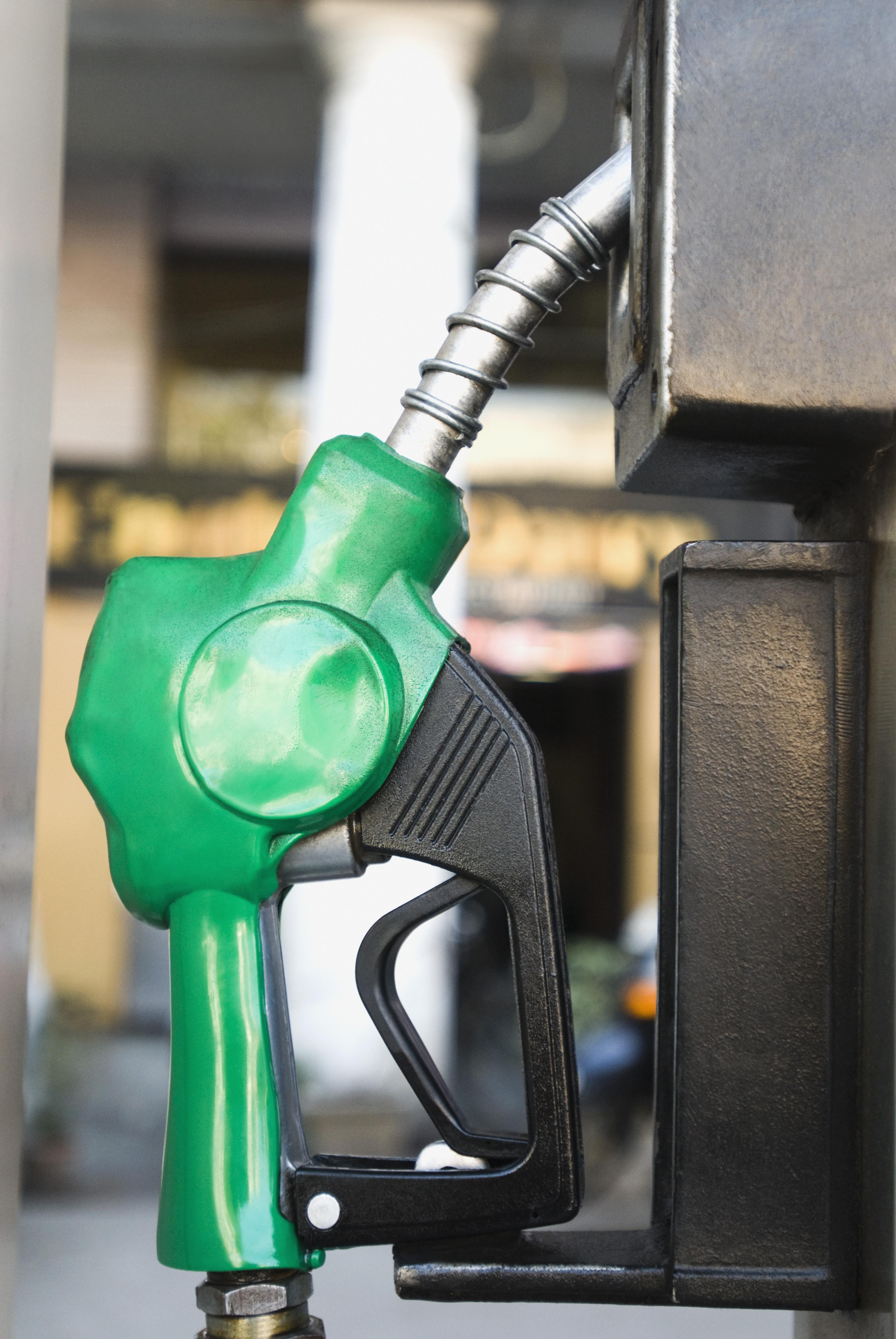 Close-up of a gas pump nozzle, Delhi, India