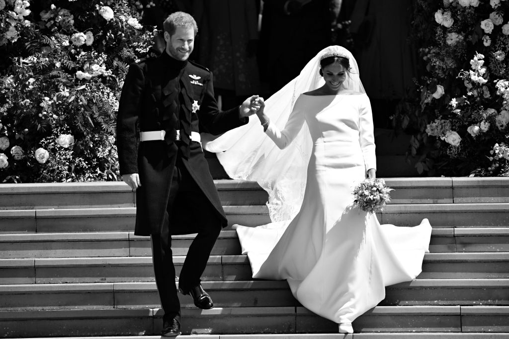 BRITAIN-US-ROYALS-WEDDING-CEREMONY-BLACK AND WHITE
