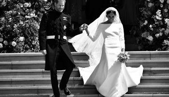 BRITAIN-US-ROYALS-WEDDING-CEREMONY-BLACK AND WHITE