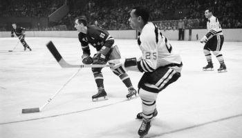 Willie O'Ree Playing Hockey