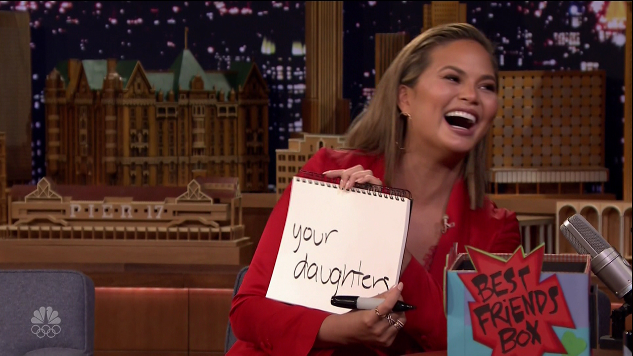 Chrissy Teigen during an appearance on NBC's 'The Tonight Show Starring Jimmy Fallon.'