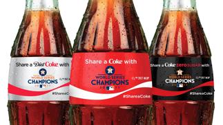 Astros Coca Cola Cans