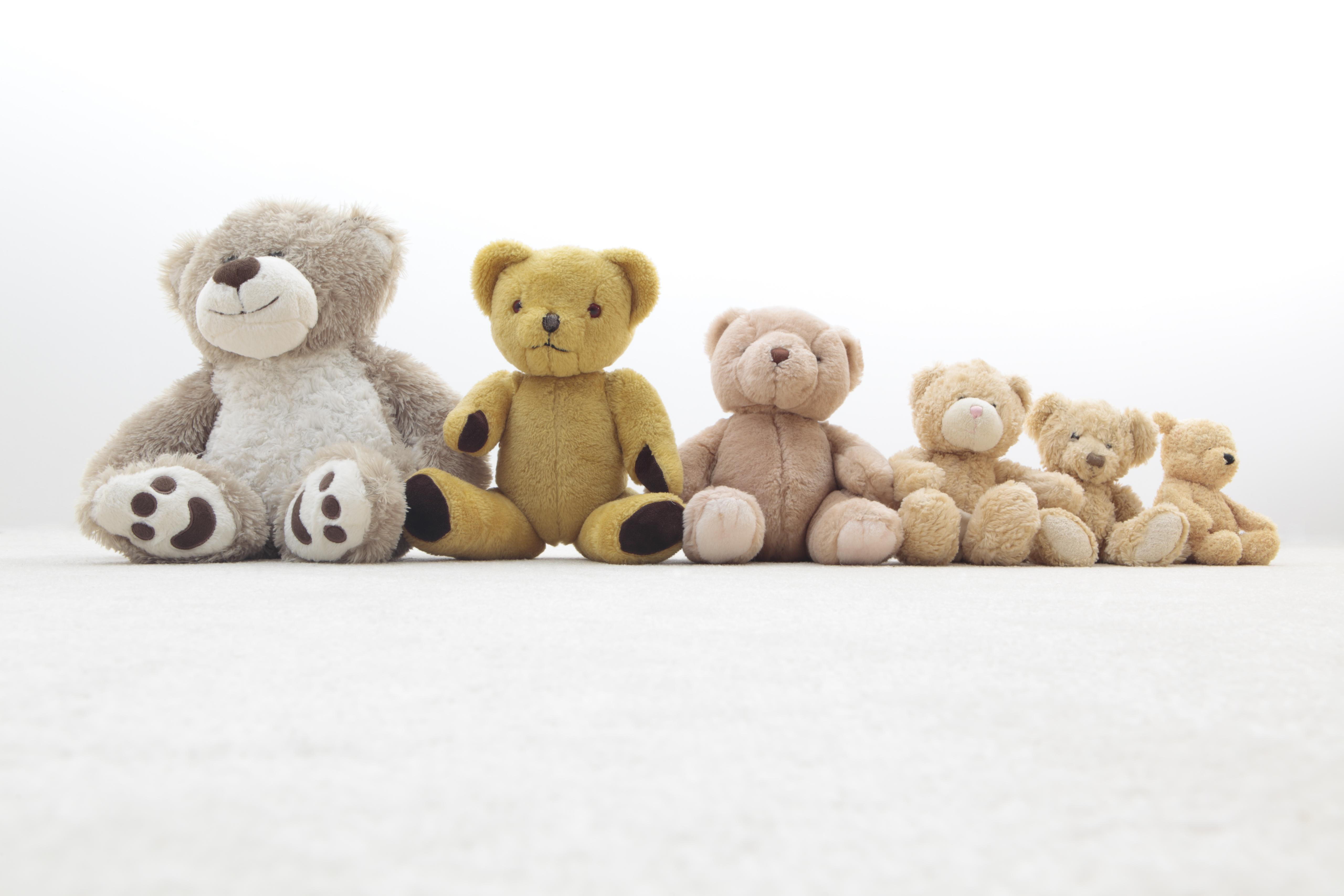 teddy bears in a row