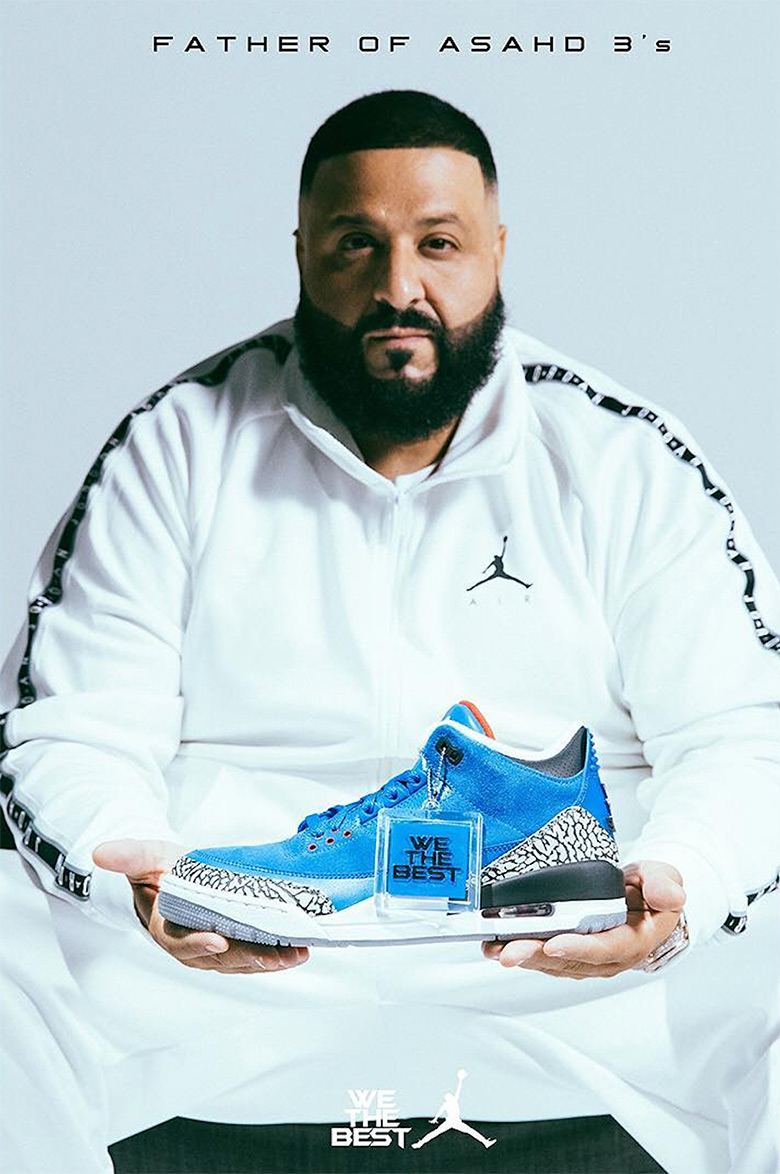 DJ KHALED AIR JORDAN 3 SNEAKERS