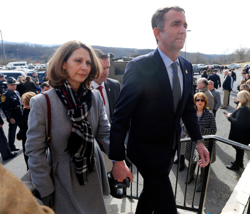 Virginia Gov. Ralph Northam Attends Funeral For State Trooper