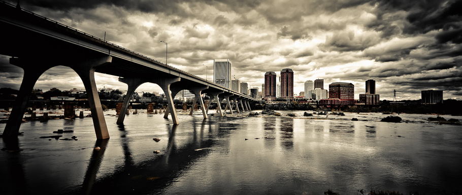 Dark RVA City Skyline - Richmond VA