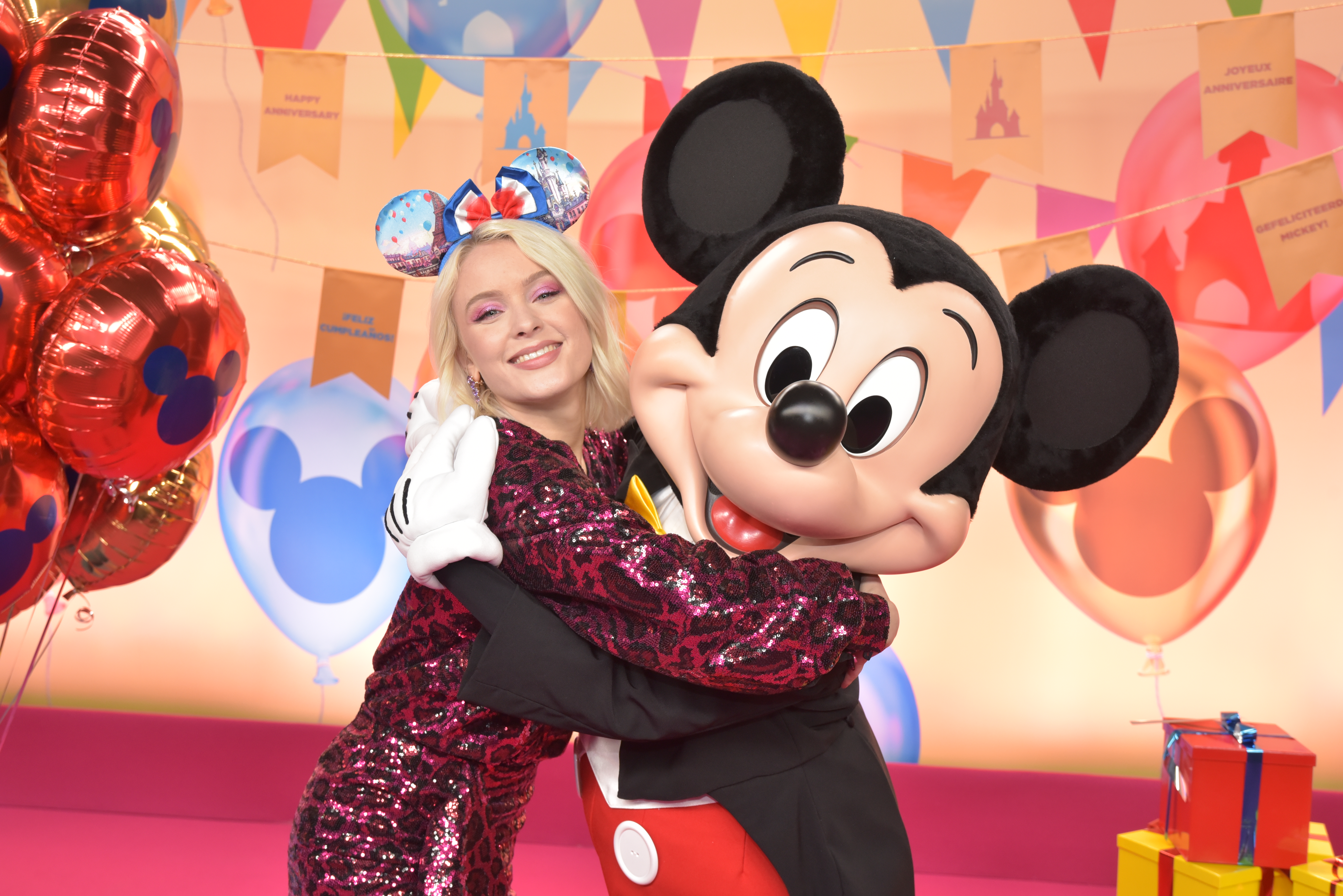 Celebrities at Disneyland Paris to celebrate 90 years of fun with Mickey launching an outstanding Christmas Season