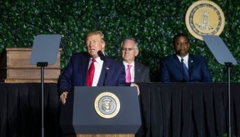 President Trump Speaks At 400th Anniversary Celebration of The First Representative Legislative Assembly At Jamestown