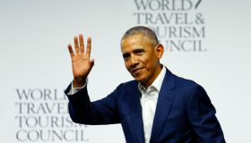 Barak Obama Attends World Travel And Tourism Council In Seville