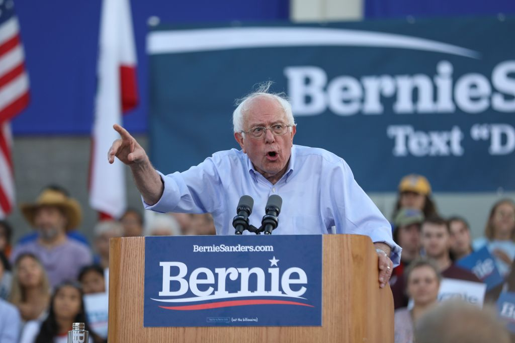 Presidential Candidate Bernie Sanders Holds Campaign Rally in Santa Monica