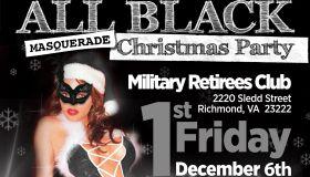 All Black Christmas Masquerade