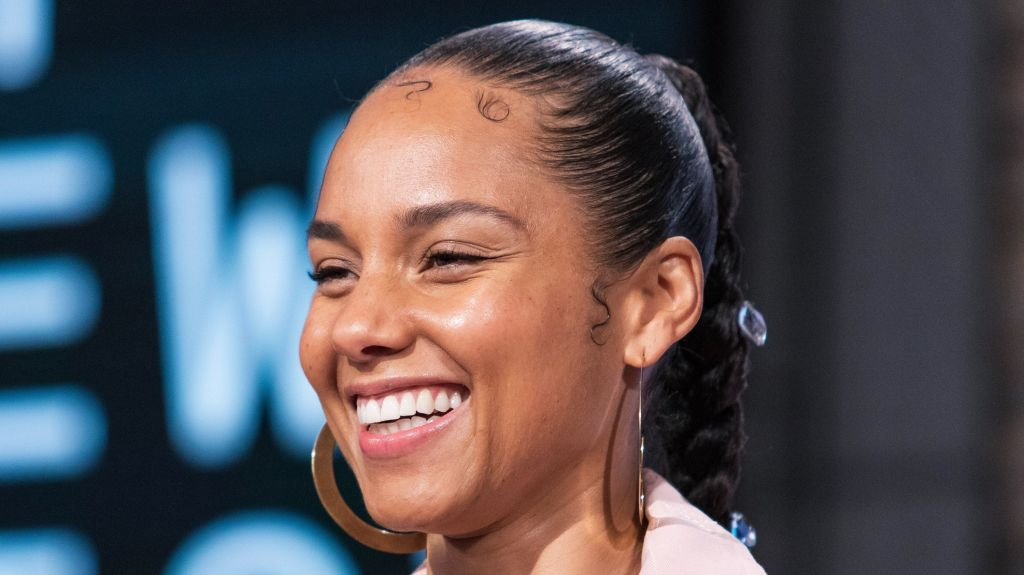 Alicia Keys at the press conference for...