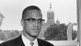 Malcolm X in Front Of Connecticut Capitol Building