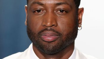 Dwyane Wade arrives at the 2020 Vanity Fair Oscar Party held at the Wallis Annenberg Center for the...